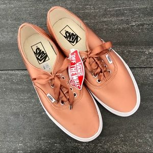 NEW Vans Authentic Satin Luxe Rose Ribbon Sneakers